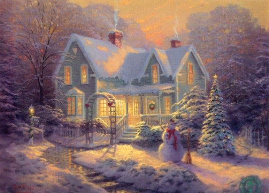 Thomas Kinkade - Blessings of Christmas