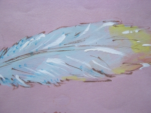 Blue feather 3