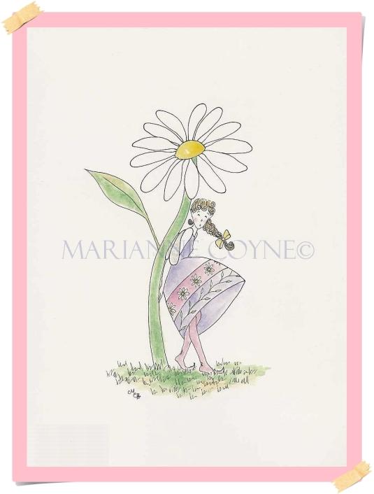 Garden Sprite-Daisy-Support (resized)(watermarked) framed