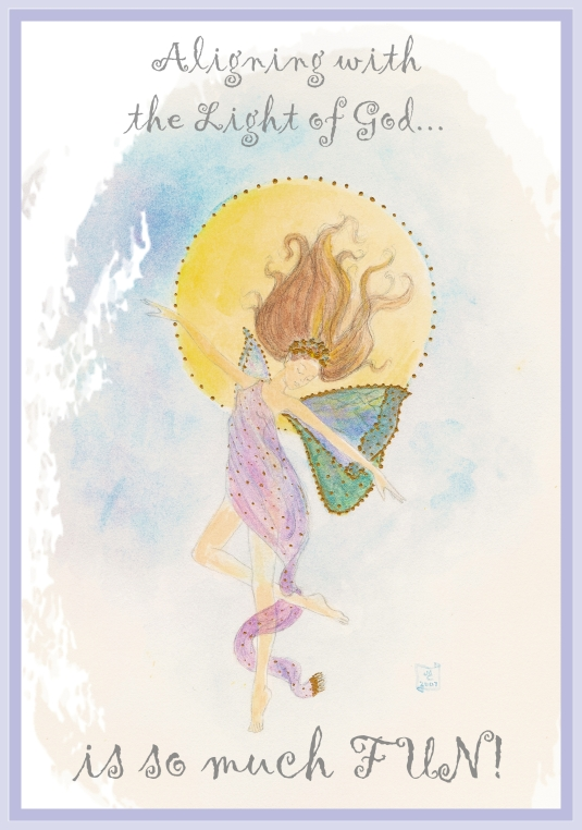 floating fairy framed with quote