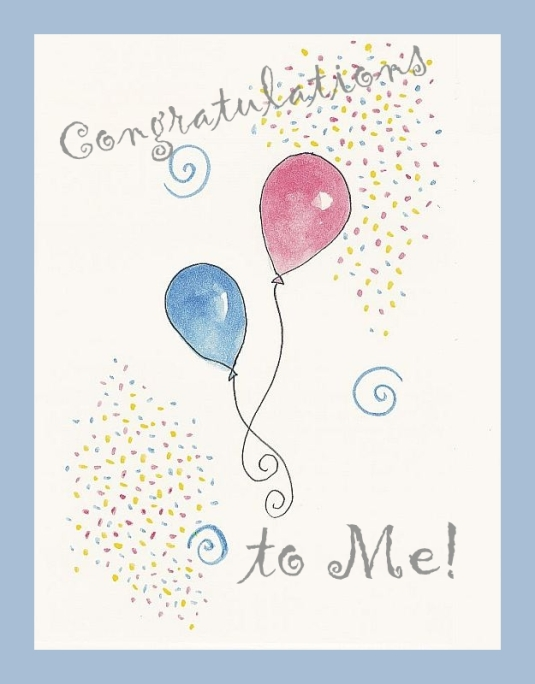 party balloons & confetti Congratulations to Me