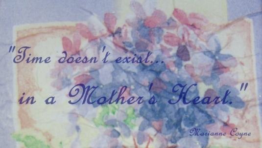 Denise's Birthday Card detail with quote