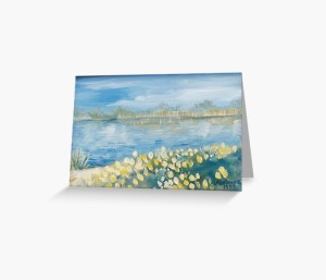 Serenity by the Water greeting card