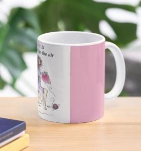 Valentine mug Love is always side view