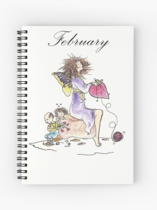 February spiral notebook