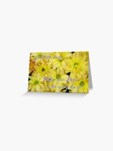 Hope you have a sunny day note card
